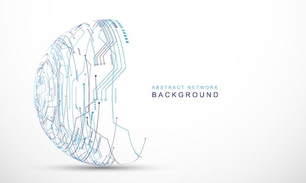 Abstrait technologie communication concept vecteur fond