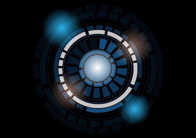 Abstrait de la technologie du cercle futuriste