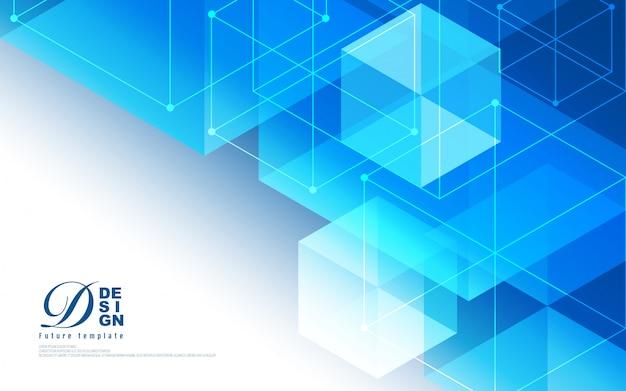 Abstrait de la technologie géométrique hexagone