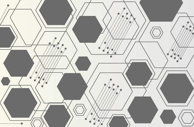 Abstrait technologie hexagone