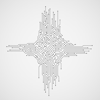 Abstrait de technologie informatique avec circuit imprimé