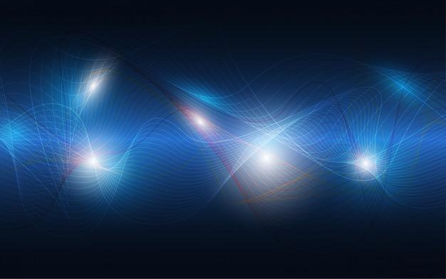 Abstrait technologie innovation concept de communication de haute technologie