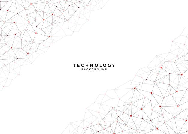 Abstrait de la technologie numérique avec des lignes de connexion réseau