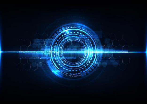 Abstrait de technologie numérique système opérationnel moderne plan cyber fond