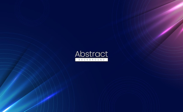Abstrait de la technologie de la science moderne avec des lumières brillantes