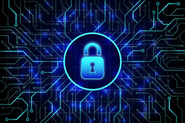 Abstrait technologie sécurisée