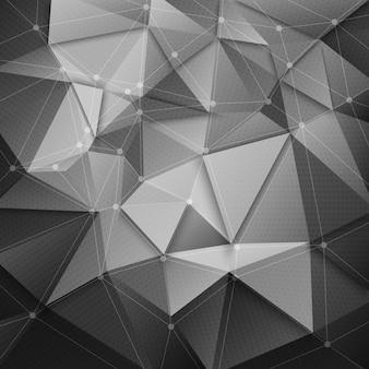 Abstrait de la technologie de la structure polygonale