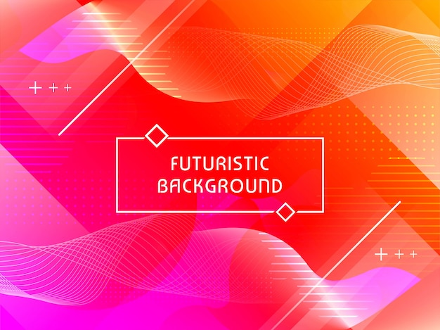 Abstrait technologique futuriste