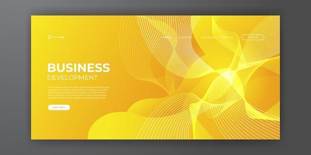 Abstrait tendance pour la conception de votre page de destination. modèle de conception abstraite à la mode. dégradé dynamique pour les pages de destination, les couvertures, les brochures, les dépliants, les présentations, les bannières. illustration vectorielle.