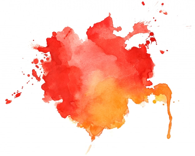 Abstrait de texture aquarelle rouge et orange