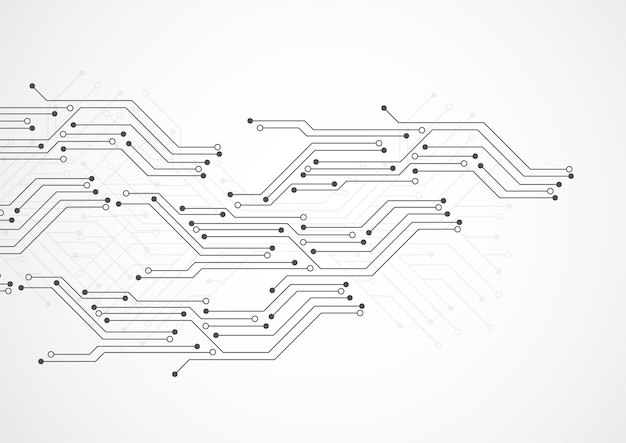 Abstrait avec la texture de la carte de circuit imprimé de la technologie