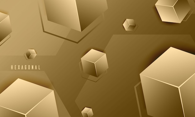 Abstrait de texture hexagone élégant