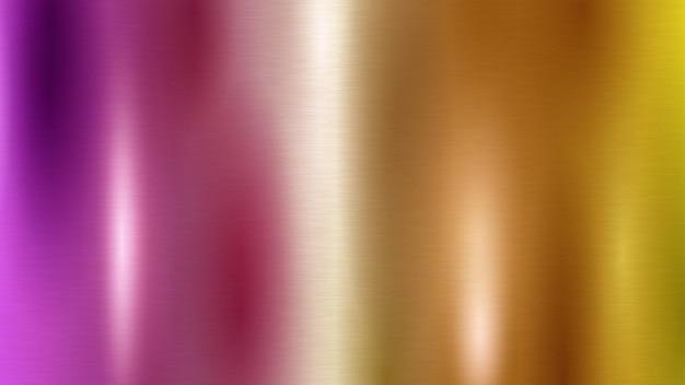 Abstrait avec texture en métal de différentes couleurs