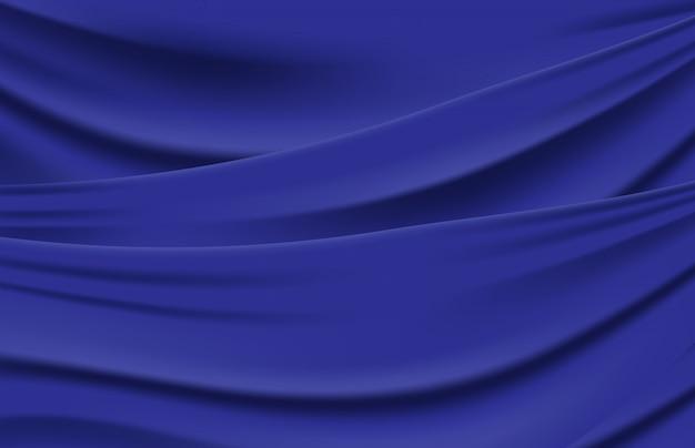 Abstrait de la texture d'onde de tissu plié bleu