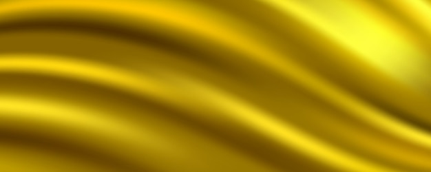 Abstrait de tissu de soie dorée