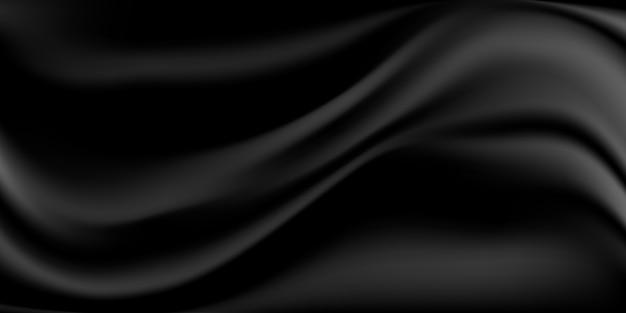 Abstrait de tissu de soie noire