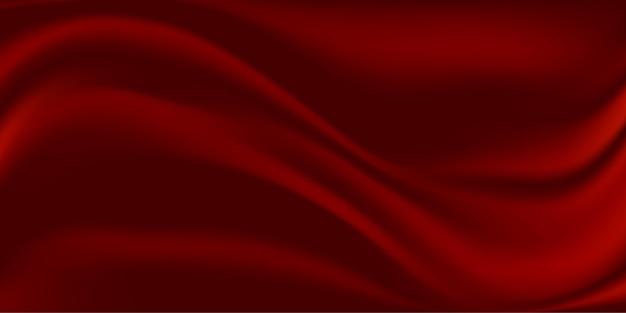Abstrait de tissu de soie rouge