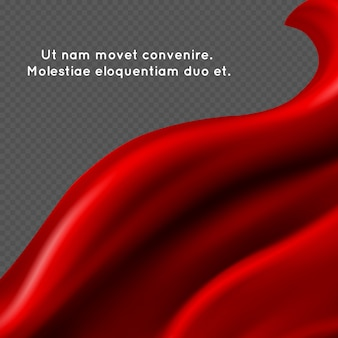 Abstrait en tissu de soie rouge