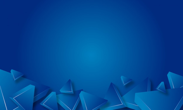 Abstrait triangle bleu