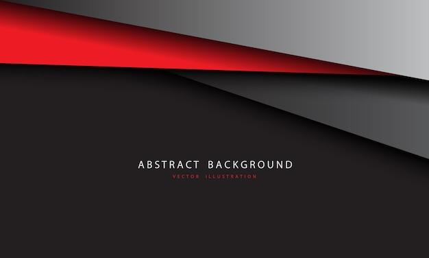 Abstrait triangle métallique gris rouge design fond futuriste moderne.
