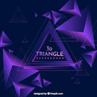Abstrait avec des triangles 3d