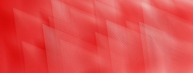 Abstrait De Triangles En Couleurs Rouges Vecteur Premium