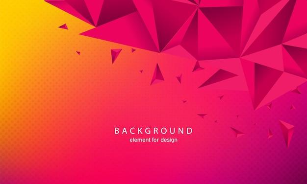 Abstrait avec des triangles dans un style 3d