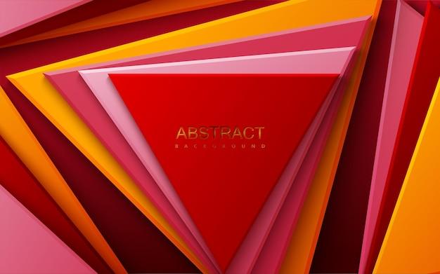 Abstrait avec des triangles multicolores