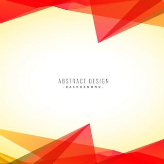 Abstrait triangles orange fond