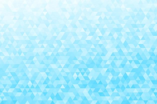 Abstrait triangulaire. de nombreux triangles bleus numériques ont l'air moderne.