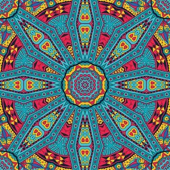 Abstrait tribal vintage coloré ethnique transparente motif ornemental