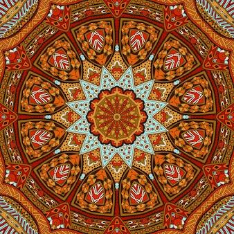 Abstrait tribal vintage couleur automne motif sans couture ethnique ornemental