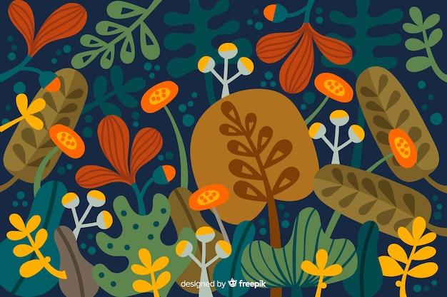 Abstrait tropical feuilles