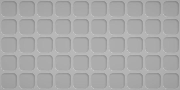 Abstrait avec des trous carrés dans des couleurs grises