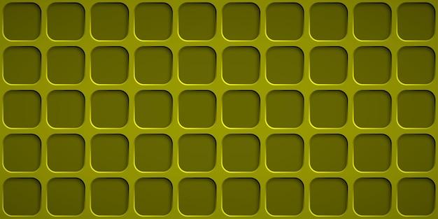 Abstrait avec des trous carrés dans des couleurs jaunes