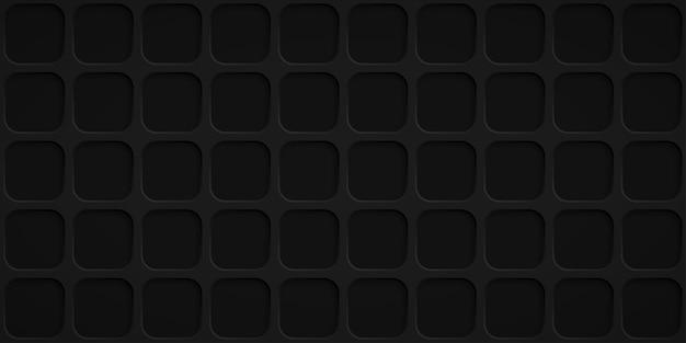 Abstrait avec des trous carrés dans des couleurs noires