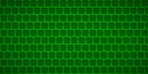 Abstrait avec des trous carrés dans des couleurs vertes