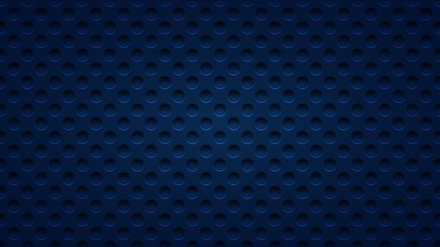 Abstrait avec des trous dans des couleurs bleu foncé