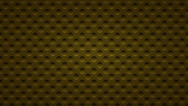 Abstrait avec des trous dans des couleurs jaune foncé