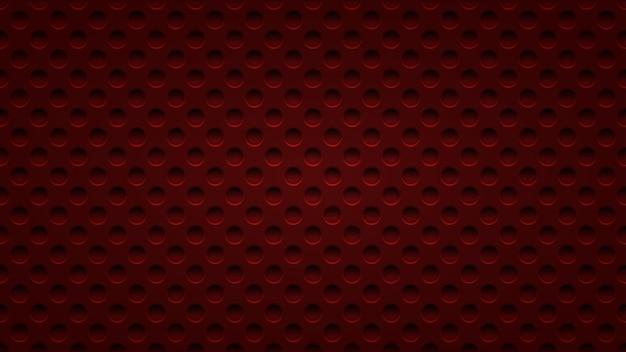 Abstrait avec des trous dans des couleurs rouge foncé