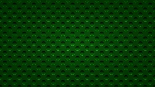 Abstrait avec des trous dans des couleurs vert foncé
