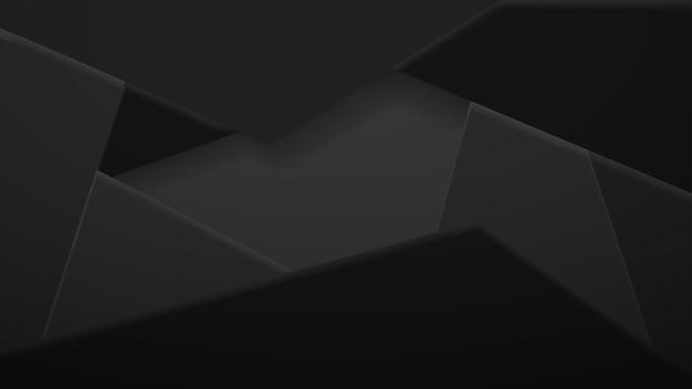 Abstrait de tuiles polygonales en couleurs noires