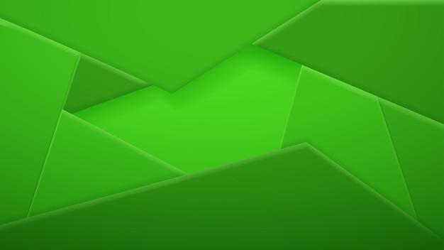 Abstrait de tuiles polygonales en couleurs vertes