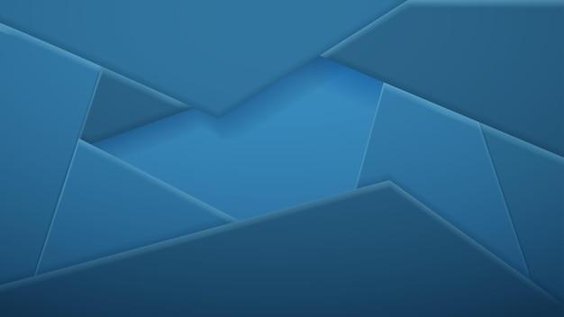 Abstrait de tuiles polygonales dans des couleurs bleu clair