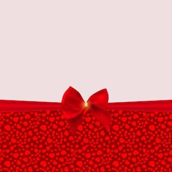 Abstrait vacances, invitation avec fond de modèle de coeurs d'amour. peut être utilisé comme ard pour la fête de la saint-valentin.