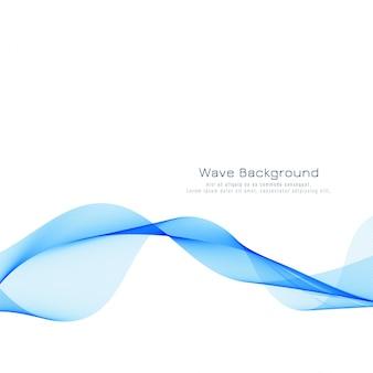 Abstrait vague bleue élégante
