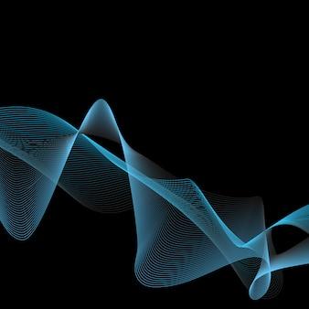 Abstrait avec vague bleue