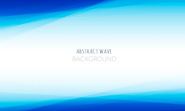 Abstrait vague bleue