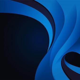Abstrait de la vague bleue