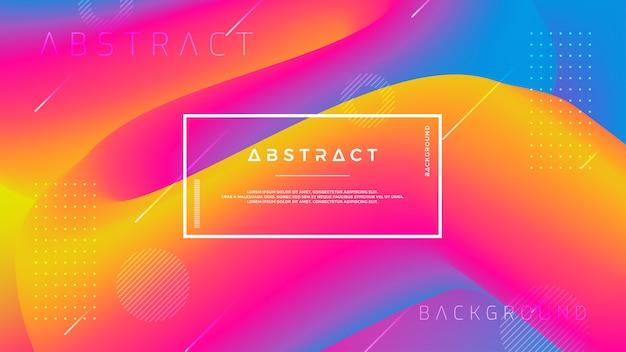 Abstrait vague dégradé avec une combinaison d'orange, rose, bleu et violet.